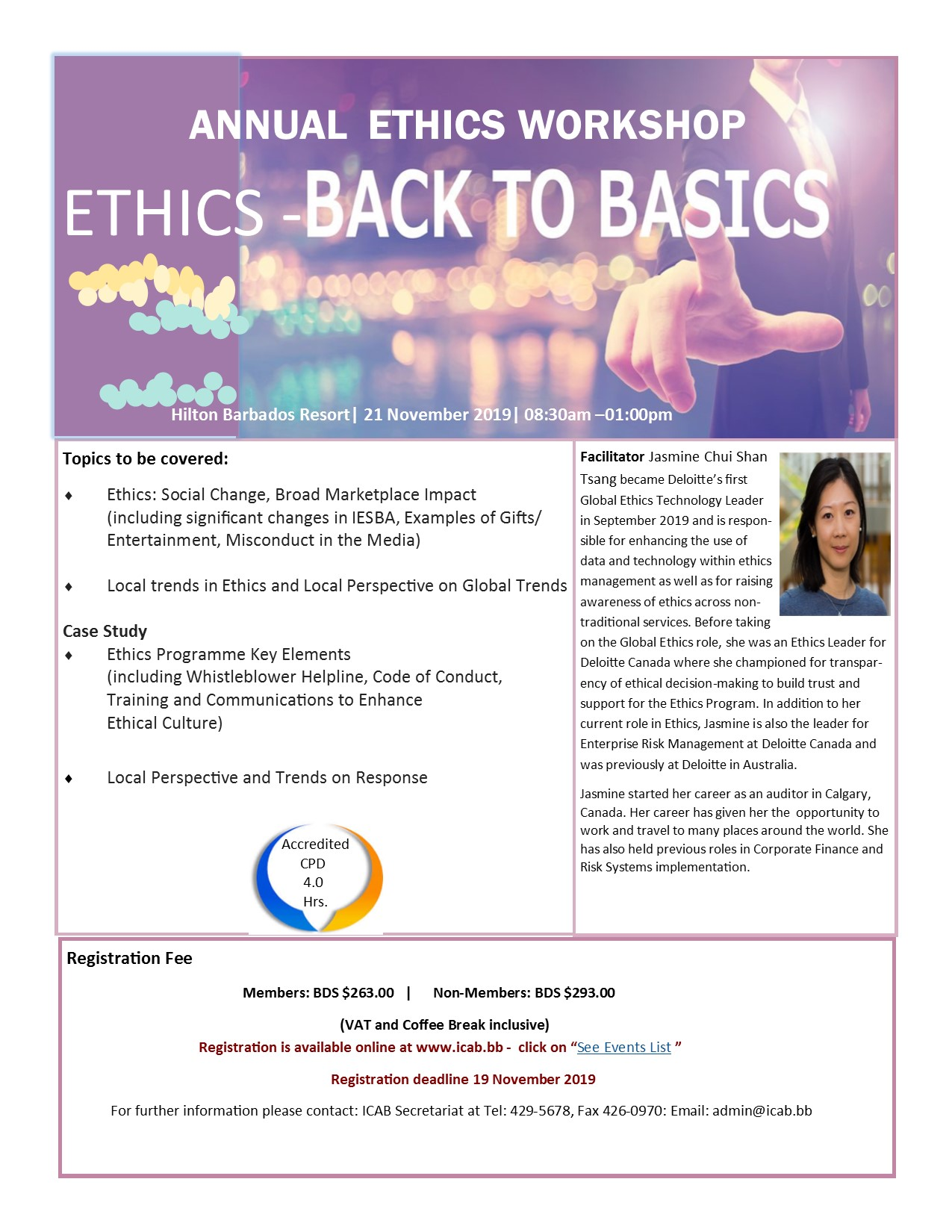 ETHICS - BACK TO BASICS