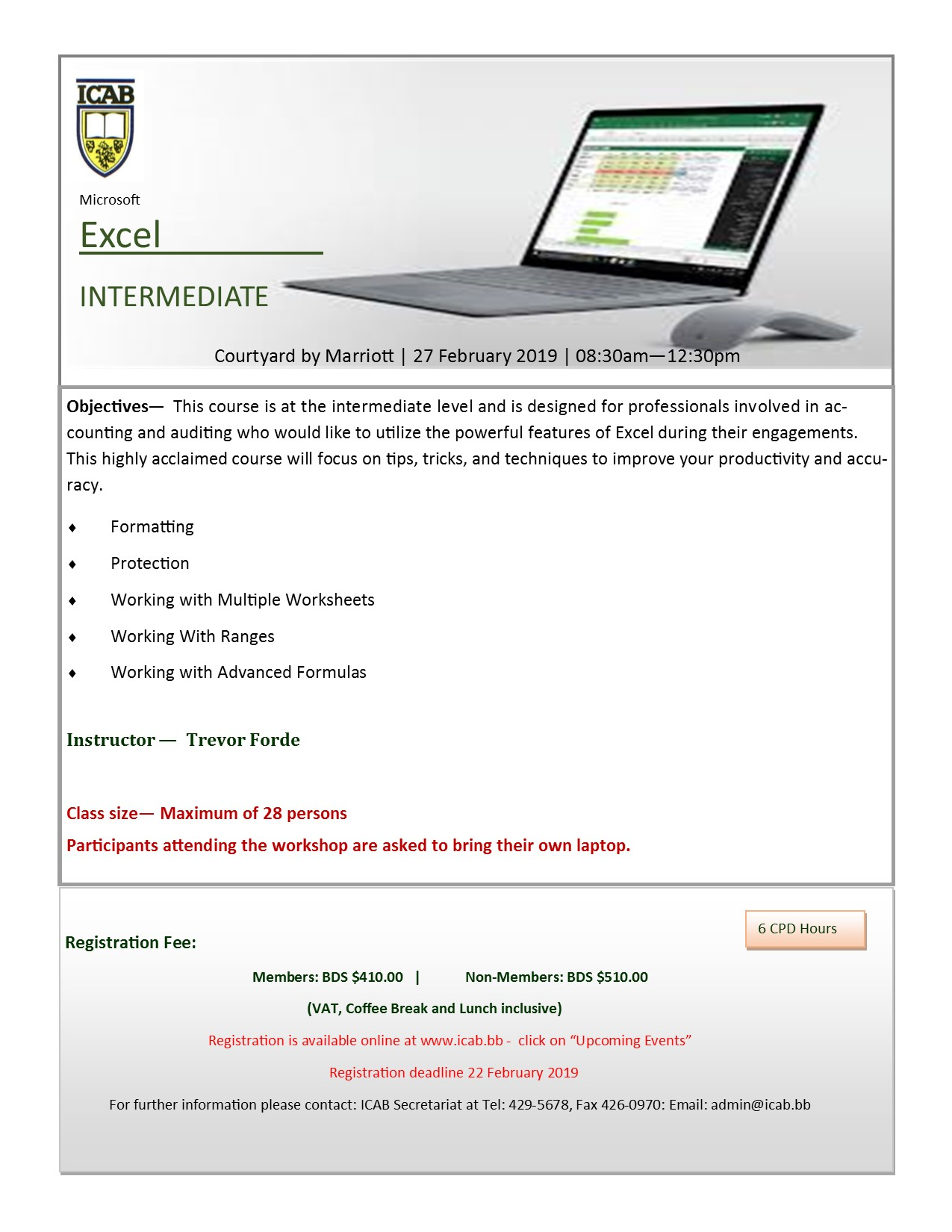 Intermediate Excel for Professionals